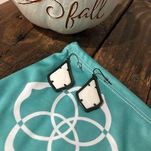 Kendra Scott Black & White Colored Dangle Earrings